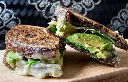 Make grilled cheese even creamier by adding avocado slices.