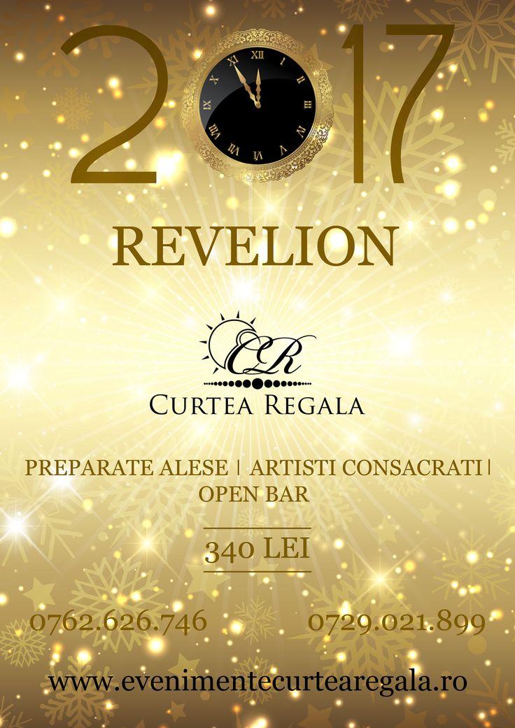 """Curtea Regala are deosebita onoare de a va invita la evenimentul """"Revelion 2017"""" pentru a sarbatori impreuna trecerea dintre ani!  Pentru mai multe informatii vizitati https://www.facebook.com/events/1051152244983043/ sau http://www.evenimentecurtearegala.ro/revelion.php.  Va asteptam!"""