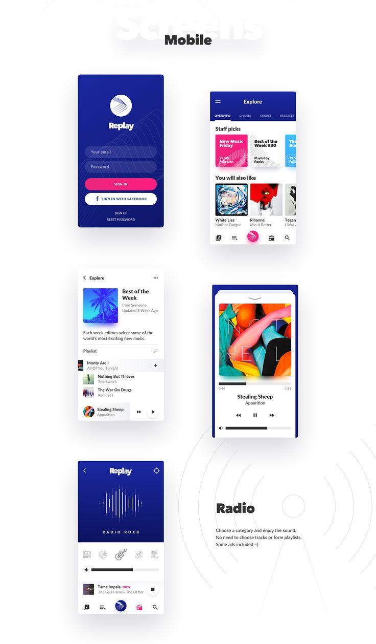 Replay - Discover New Music on Behance