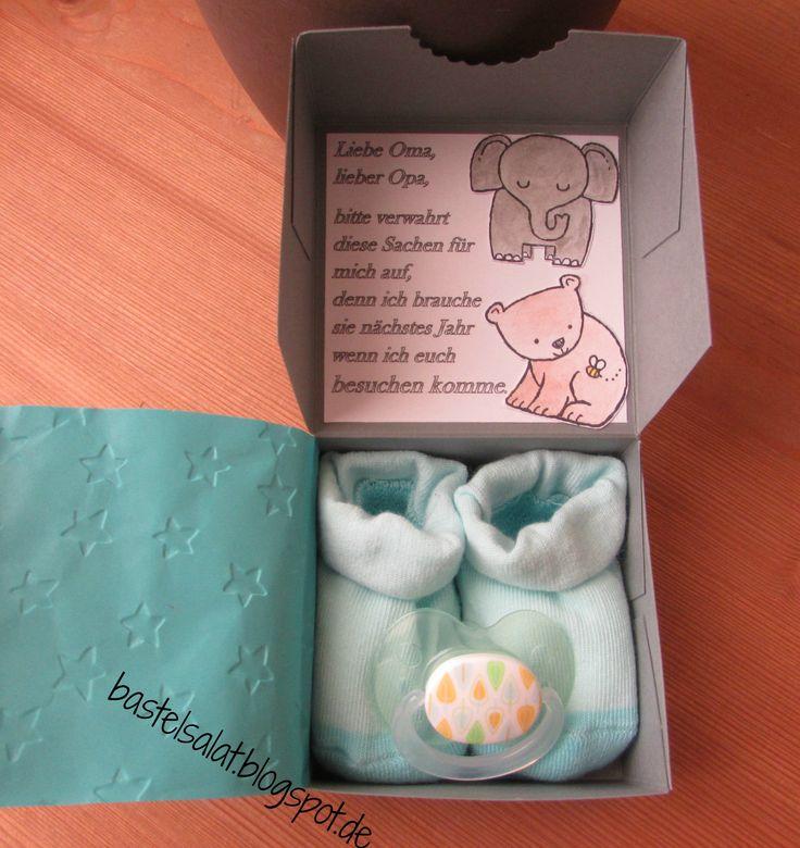 """Schwangerschaft verkünden mit einer Überraschungsbox mit dem Set """"Tierische Glückwünsche"""" von Stampin' Up!"""