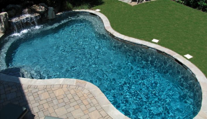 17 best images about pools with waterfalls on pinterest for Average square footage of a pool