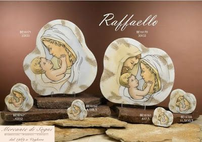 """Collezione """"DC.se"""" Linea RAFFAELLO ICONE Sacra Famiglia e Maternità  Misure: piccola, media e grande  Linea di bomboniere Raffaello composta da icone, realizzate in marmo resina, raffiguranti Sacri. Bomboniere perfette per tutte le cerimonie, in particolare batesimo e matrimonio. Sono tutte di ottima qualità rigorosamente made in Italy  Read more: http://mercantedisognivoghera.blogspot.com/2015_11_04_archive.html#ixzz3rDoiHZSN"""