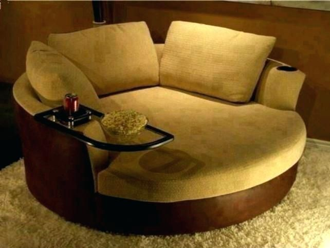 Round Loveseat Sofa Home Interior Design Ideas In 2020 Round Swivel Chair Swivel Chair Living Room Round Couch