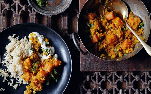 A comforting and quick Indian supper made with warming spices and tender   sautéed pumpkin.