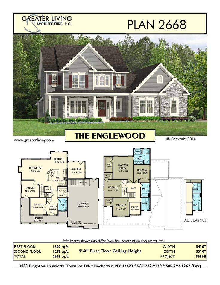 Plan 2668 The Englewood Houses Pinterest The O Jays