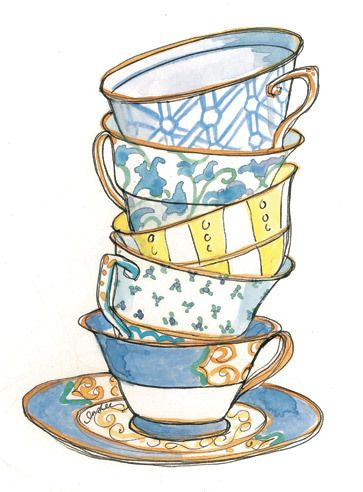 Alice In Wonderland Tea Cups Drawing Include: cup, drawing,