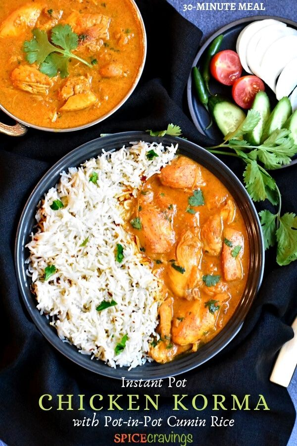 Chicken Korma Instant Pot Stove Spice Cravings Recipe Chicken Korma Recipe Chicken Korma Instant Pot Recipes