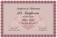 Free Certificate Maker - personalize and print certificates online for free: classic award certificate template