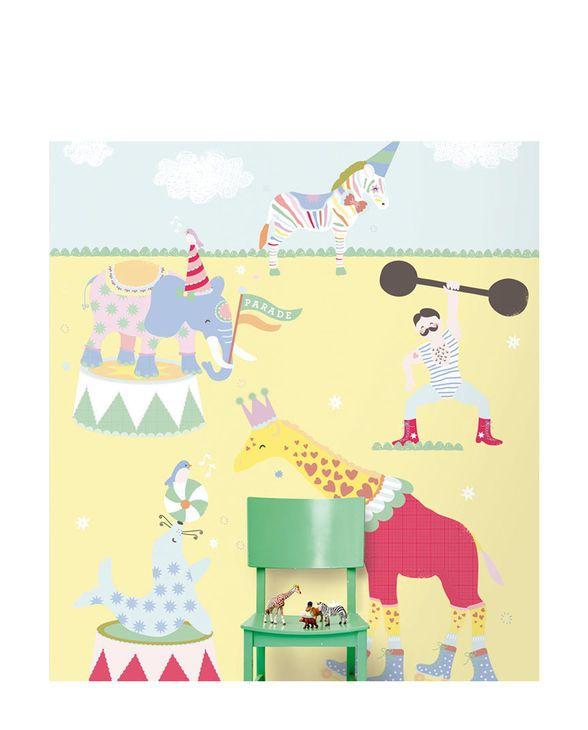 Mit dem hochwertigen Vlies-Wandbild der Rice-Kollektion von Eijffinger holst Du die magische Wirkung der Zirkusluft direkt ins Kinderzimmer.