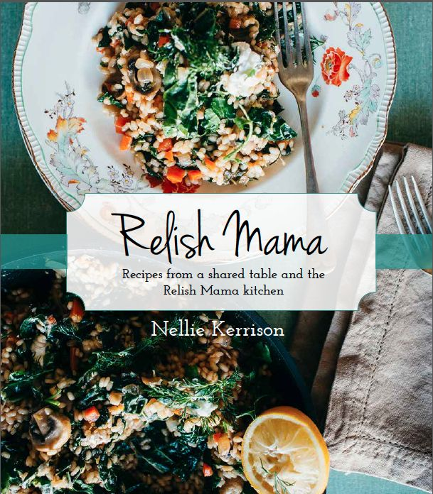 Cover shot...The Relish Mama cookbook due for release December 2014