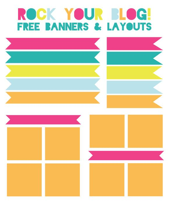 blog banners and layouts