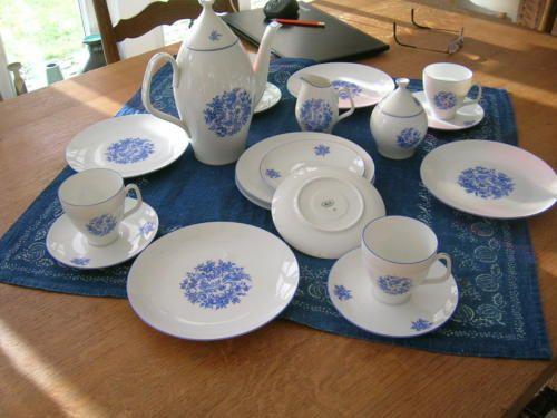 melitta kaffee service rest teile blaues vogelmotiv. Black Bedroom Furniture Sets. Home Design Ideas