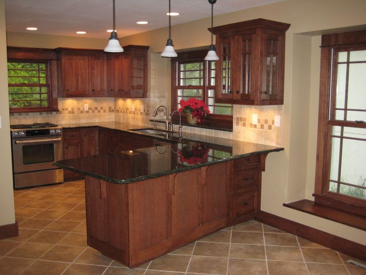 Oak Kitchen Cabinets In Kitchen With White Appliances | Remodeled Kitchen  With New Cabinets And Appliances