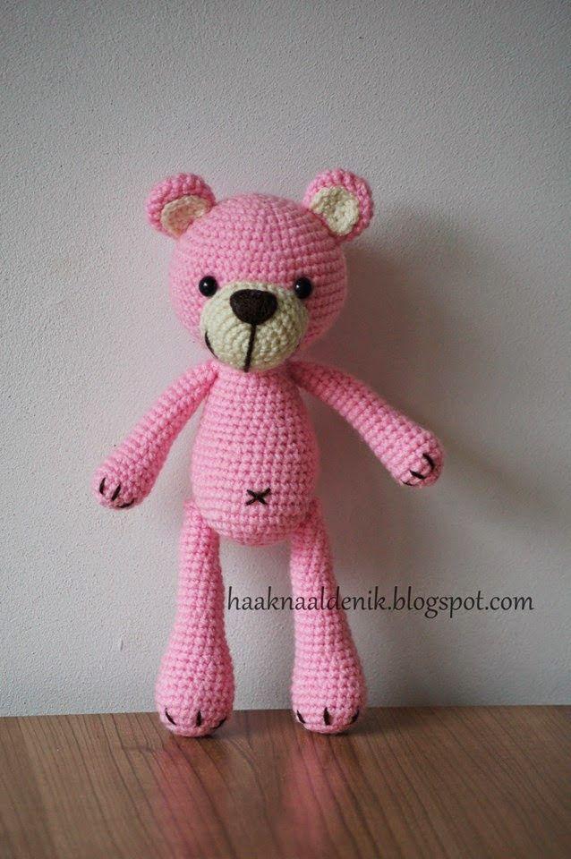 Avontuur met een haaknaald, GRATIS #haakpatroon, Nederlands, amigurumi, beer, knuffel, speelgoed