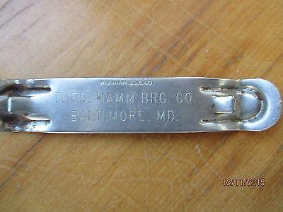 Vintage Hamm's Beer Slogan Metal Advertising Bottle Opener - http://collectibles.goshoppins.com/breweriana/vintage-hamms-beer-slogan-metal-advertising-bottle-opener/