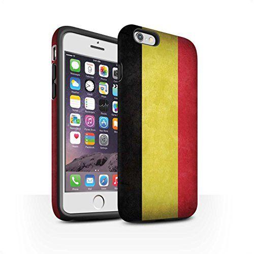 Coque Matte Robuste Antichoc de STUFF4 / Coque pour Apple iPhone 6S / Belgique Design / Drapeau Collection - https://streel.be/coque-matte-robuste-antichoc-de-stuff4-coque-pour-apple-iphone-6s-belgique-design-drapeau-collection/