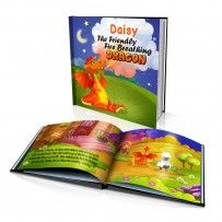 "Personalised Hard Cover Story Book:     ""The Friendly Fire Breathing Dragon"" / Dinkleboo"