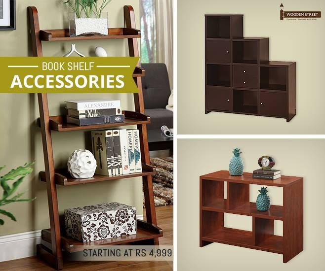 This cool look for your modern home is very easy to achieve with our unmatched design of wooden #BookShelves at #WoodenStreet  http://www.woodenstreet.com/book-shelves