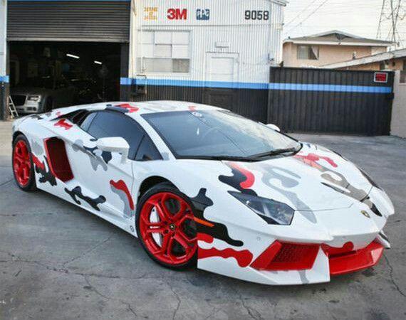 El Lamborghini de Chris Brown