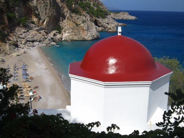 Church with view: church of Kyra Panagia in Karpathos