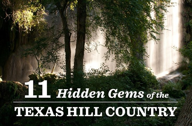 Luckenbach, tx. hosts country artists weekly,  Gorman Falls. Jacob,s Well, Krause Springs, Hamilton Pool, Cascade Caverns                                 11 Hidden Gems of the Texas Hill Country