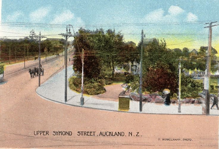 Upper Symonds Street, Auckland, N.Z. Photo by H. Winkelmann. From the Souvenir Folder of Auckland, N.Z. Published by Tanner Bros. Ltd., Wellington, New Zealand & London.