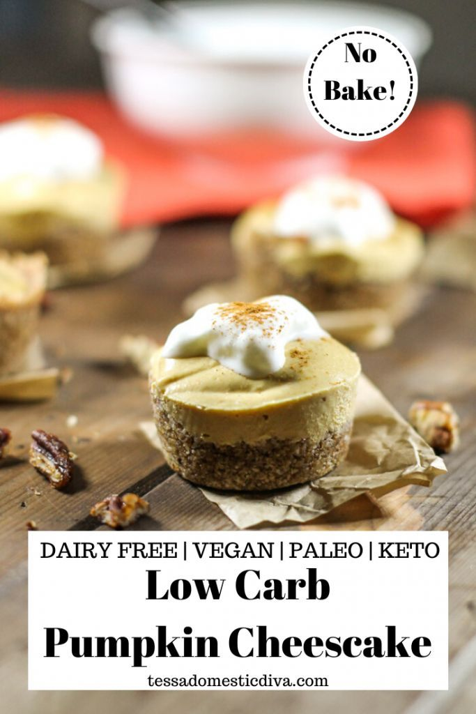 Dairy Free Keto Pumpkin Cheesecake Recipe Dairy Free Low Carb