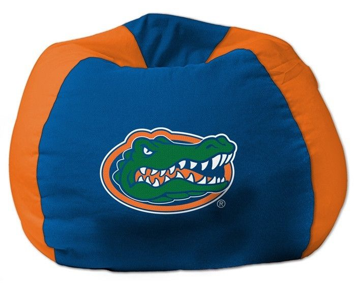 [[start tab]] Description This University of Florida Gators Bean Bag Chair is the perfect addition to every college fan's bedroom, living room or den. The shell is made of 100% Polyester fabric, with