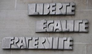 In 1958 Liberté, Égalité, Fraternité was added to the French constitution and became the official motto of France.