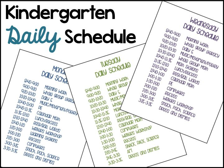 Differentiated Kindergarten Blog Daily Schedule.  Setting up your daily schedule in kindergarten including descriptions.