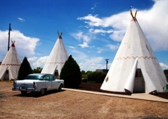 """Wigwam Village  Holbrook, AZ    1940s road-trippers witnessed the counyry's brief profusion of """"wigwam hotels."""" A few trremain, like this Arizona property where guests sleep in freestanding concrete tepees (doubles from $54 per night)"""