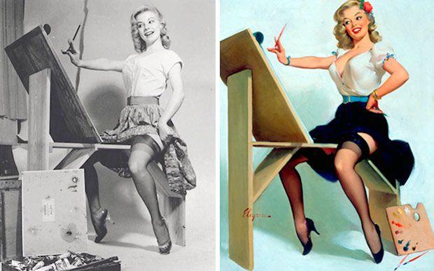 Veja as mulheres reais por trás das famosas ilustrações pin up - Você - CAPRICHO
