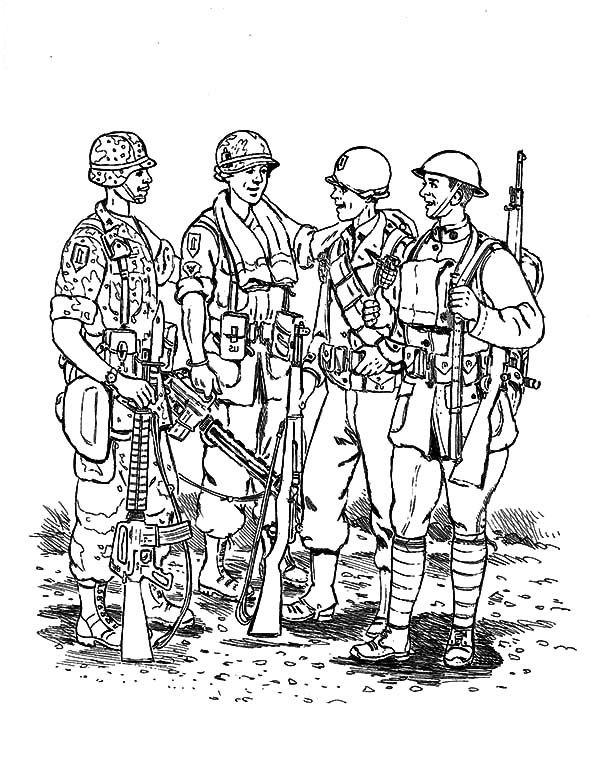 9 Premium Coloriage De Militaire Collection Coloriage Image Coloriage Dessin Militaire