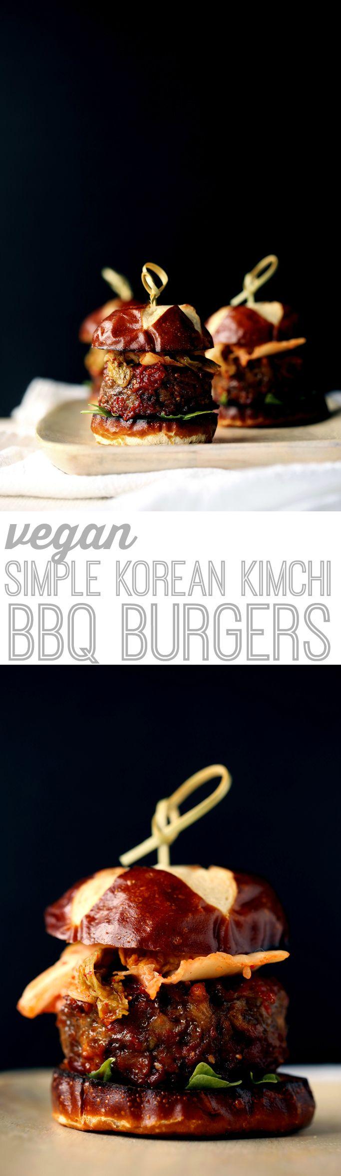 Vegan Simple Korean Kimchi BBQ Burgers from Mastering the Art of Vegan Cooking