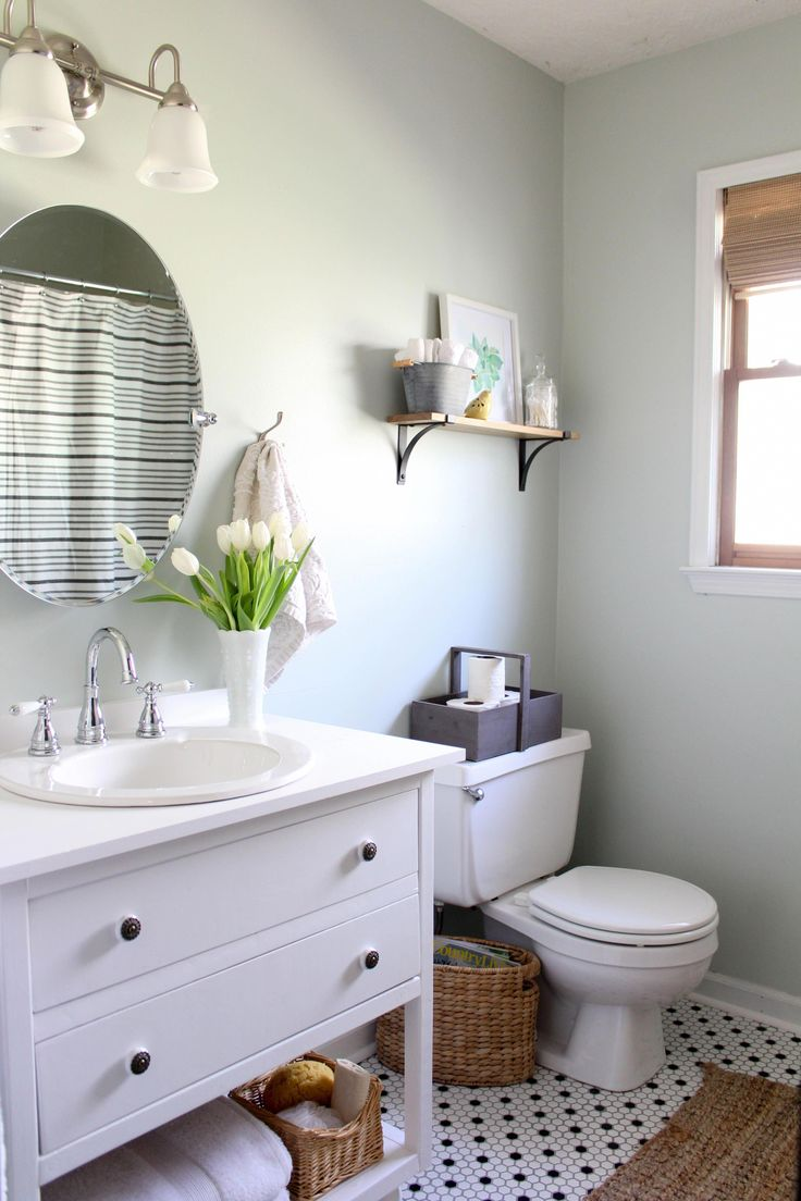 Low-cost, vintage style bathroom update # ...