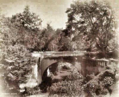 De Brug bij het ziekenhuis te Malang 1890.