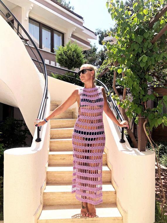 dd091c743569b Crochet Pattern - Sunny Days Beach dress, adjustable to any size ...