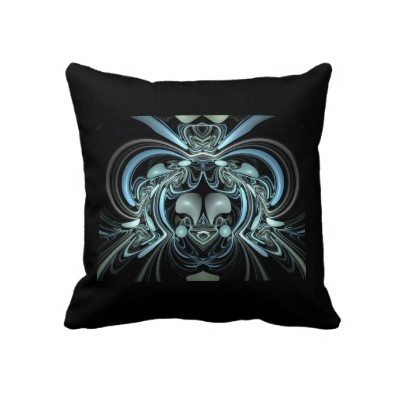 Silver Blue Decorative Pillows : 14 best images about Abstract Throw Pillows on Pinterest Blue throw pillows, Stained glass ...