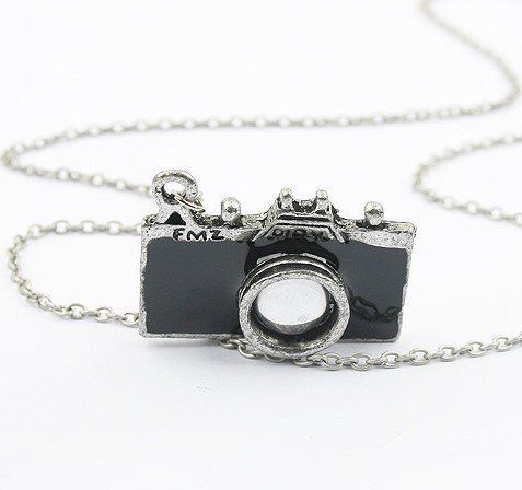Some of the Cheapest Jewelry on Amazon (Under One Dollar) Can Make Cool Christmas Gifts. Photographer Necklace with Retro Camera Pendant