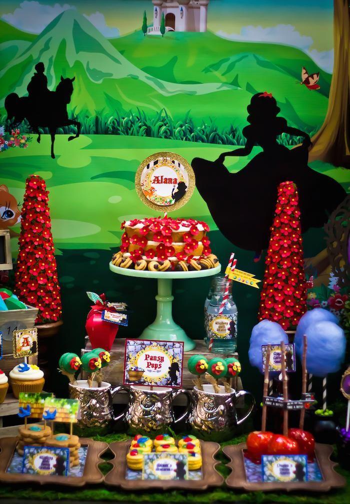 Snow White themed birthday party