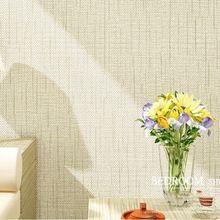 Não-tecido Moderno E Minimalista Faux Textura Toque Grasscloth Wallpaper Papel De Parede De Palha de Palha para sala e Quarto(China (Mainland))