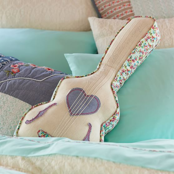 Junk Gypsy Guitar Pillow // PBteen