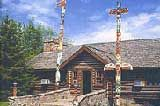 Whetung Ojibwa Crafts and Arts Gallery offers a spectacular collection of Indian crafts as well as fine art, sculpture, masks, leather work, clothing, jewelry, music and books from across Canada. (Curve Lake Indian Reserve, north of Peterborough)
