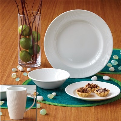 "Guiding The Brides ""Spiro"" Dinnerware Set"
