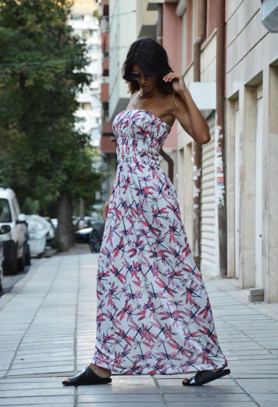 Open Back Long Dress / Extravagant Loose Fit Dress / by SSDfashion