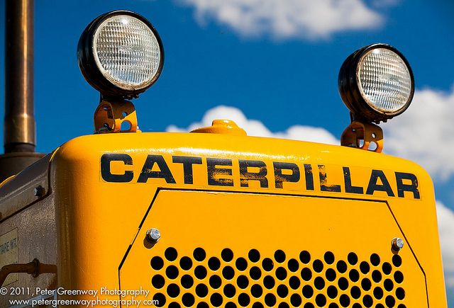 The business end of the iconic Caterpillar bulldozer photographed at Bloxham Steam Rally, 2011. #CAT