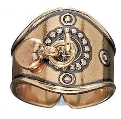 Jewelry Heart Ring, bronze, by Kalevala Koru, Finland