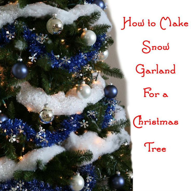 How to make Christmas Tree Snow Garland  -- super easy and CHEAP