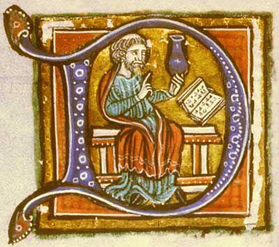 Il probabile autore, Ḥunayn ibn Isḥāq, raffigurato nel capolettera d'un manoscritto dell'Isagoge di Porfirio  Hunayn ibn Ishaq   Capolettera d'un manoscritto dell'Isagoge raffigurante Hunayn ibn Ishaq Hunayn ibn Ishaq (in siriaco Hunein Bit Ishak), in arabo: أبو زيد حنين بن إسحاق العبادي, Abū Zayd Ḥunayn ibn Isḥāq al-ʿIbādī (al-Hira, 808 – Samarra, 873) è stato un medico, traduttore, filosofo e scienziato arabo, oriundo di Siria, notissimo in Oriente e in Occidente per la sua opera di…