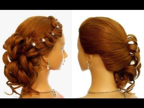 Прическа на выпускной, свадебная прическа. Prom wedding hairstyle for long hair
